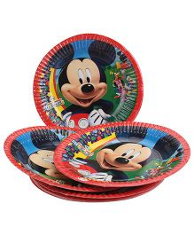 Disney Mickey Mouse And Friends Paper Plate Small - Red