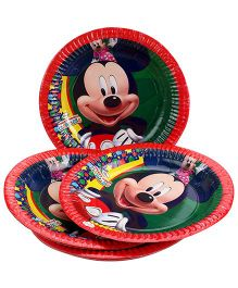Disney Mickey Mouse And Friends Paper Plate Large - Red