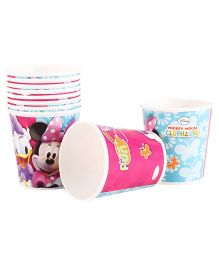 Disney Minnie Mouse Paper Cups Pack Of 10 Multi Color - Each 200 ml