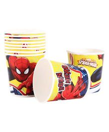 Marvel Spider Man Paper Cups Pack Of 10 Multi Color - Each 200 ml