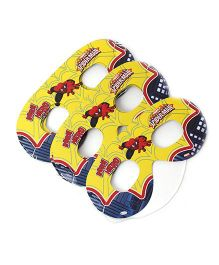 Marvel Spider Man Amazing Eye Masks Pack Of 10 - Yellow & Blue