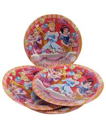 Disney Princess Paper Plate Red - Diameter 8.6 Inches