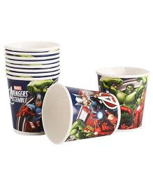 Marvel Avengers Paper Cups Pack Of 10 Multi Color - Each 200 ml