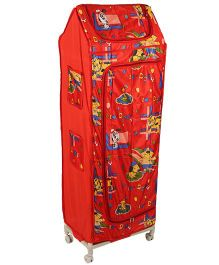 Kids Zone Hum Tum Wardrobe Puppy Print - Red