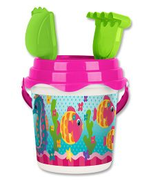Stephen Joseph Beach Bucket Set Fish And Sea Horse - Multicolor