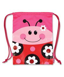 Stephen Joseph Drawstring Bag Pink And Red - 15.5 inches