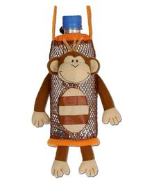 Stephen Joseph Bottle Holder Buddies Monkey - Brown