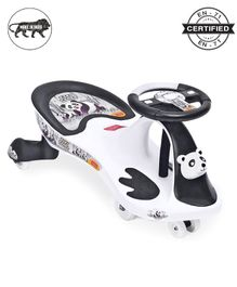 Babyhug Baby Panda Gyro Swing Car With Steering Wheel - Black & White