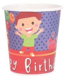 B Vishal Happy Birthday Theme Paper Cups Pack Of 10 - Multi Color