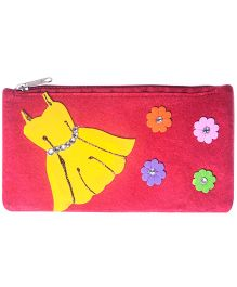 Li'll Pumpkins Dress Design Stationery Pouch - Red