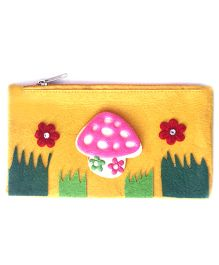 Li'll Pumpkins Mushroom Design Stationery Pouch - Yellow