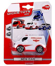 Dickie Freewheel Ambulance Van Toy - White And Red