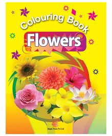 Colouring Book Flowers - English