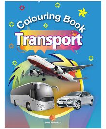 Colouring Book Transport - English
