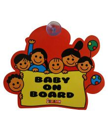 Blossom Car Sign Baby on Board (Color & Design May Vary)