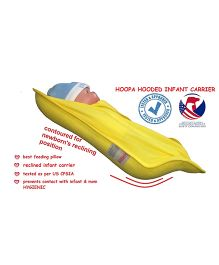 Hoopa Hooded Feeding Pillow Cum Carrier - Yellow