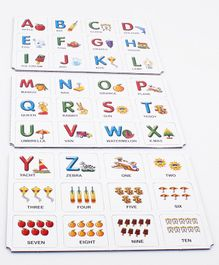 Funskool Alphabets And Numbers Memory Game - 72 Picture Cards