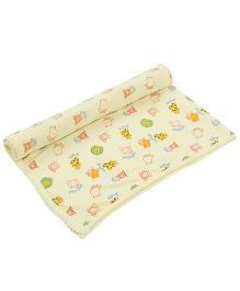 Tinycare Baby Towel Animal Print - Yellow