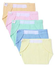 Tinycare Velcro Closure Nappy Small Multicolor Extra Large - Set Of 5