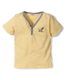 Bee Bee V Neck T-Shirt - Yellow