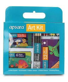 Apsara Complete School Art Kit Pack of 1 - 36 Pieces (Packaging May Vary)