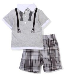 Boyz Wear by Nannette T-shirt & Shorts set - Grey