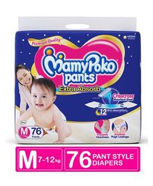 MamyPoko Extra Absorb Pant Style Diapers Medium - 76 Pieces