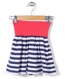 Zutano Striped Dancing Skirt - Navy Blue & White