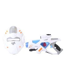 Simba Space Defender Gun And Mast Set - White