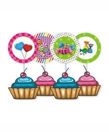 Prettyurparty Candy Shoppe Cupcake Food Toppers- Multi color