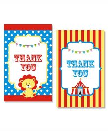 Prettyurparty Carnival Thankyou Cards- Multi Color