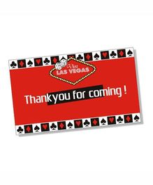 Prettyurparty Casino Thankyou Cards- Black and Red