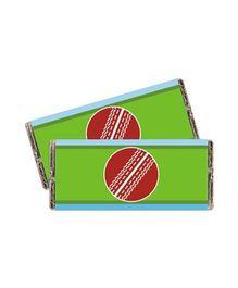Prettyurparty Cricket Chocolate Wrappers Green Red - Pack Of 10