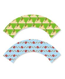 Prettyurparty Cricket Cupcake Wrappers - Pack of 10