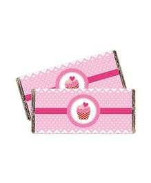 Prettyurparty Cupcake Chocolate Wrappers Pink - Pack Of 10