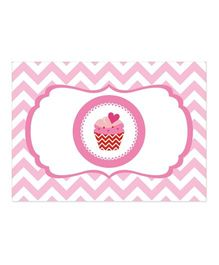 Prettyurparty Cupcake Table Mats Pink - Pack Of 6
