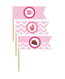 Prettyurparty Cupcake Toothpicks Pink - Pack Of 20