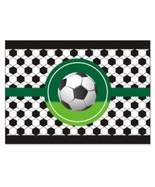 Prettyurparty Football Table Mats- Green and Black