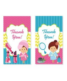 Prettyurparty Spa Thankyou Cards- Multi Color