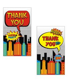 Prettyurparty Superhero Thankyou Cards- Multi Color