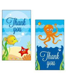 Prettyurparty Under the Sea Thankyou Cards- Blue