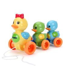 Tomy Pull Along Duck Toy - Multicolor