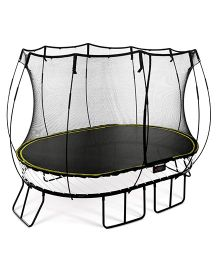 Springfree Medium Oval Trampoline with Enclosure - Black