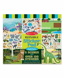 Melissa & Doug Reusable Sticker Pad-Habitats - Multicolor