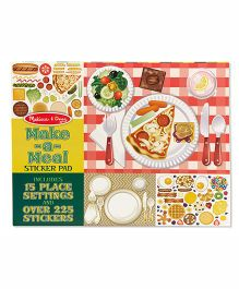 Melissa & Doug Make-a-Meal Sticker Pad - Multicolor