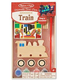 Melissa & Doug Wooden Train Decorating Set - Multicolor