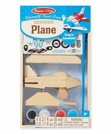 Melissa & Doug Wooden Airplane Decorating Set - Multicolor