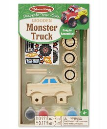 Melissa & Doug Wooden Monster Truck Decorating Set - Multicolor
