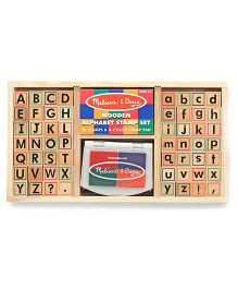 Melissa And Doug Alphabet Stamp Set - Multicolor