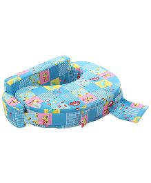 Babyhug Feeding Pillow Small N Big Cars Print - Blue
